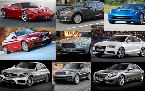 Audi, BMW and Mazda will fight it out for the World Car of the Year award.