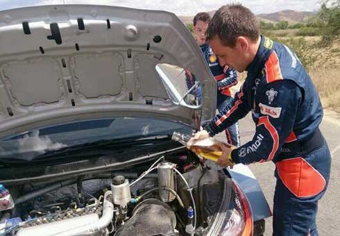 Hyundai duo Thierry Neuville and Nicolas Gilsoul fill their Hyundai with beer to keep in cool enough to reach the end of the WRC Mexico rally.