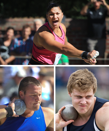 valerie adams, tom walsh, jacko gill