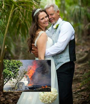 Fire at wedding