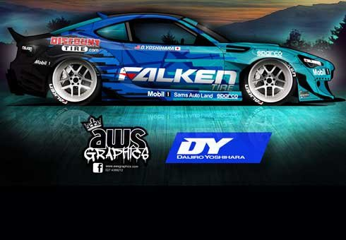 Andrew Stewart may have failed high school art but he has just won an international graphic design for a drift car.