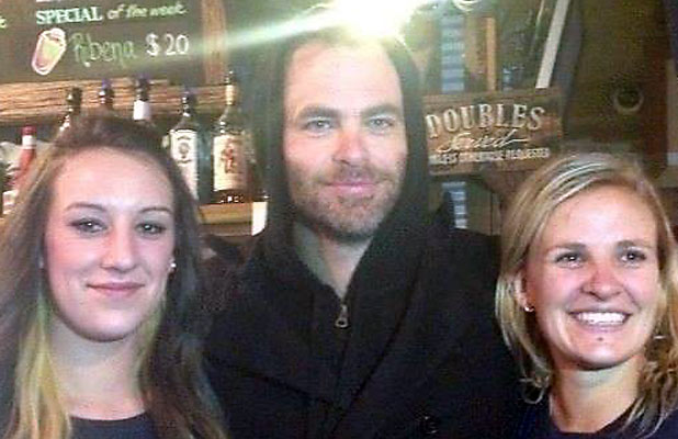 Chris Pine at Methven's Blue PubF