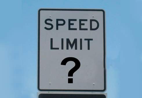Conflicting speed limit signs in an area of Hamilton appear to have been the work of a trickster.