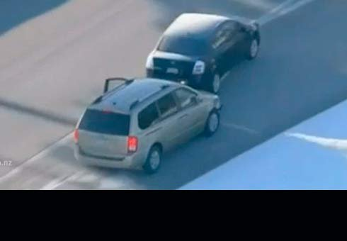 Four-year-old boy in one of three vehicles carjacked by a man during a dramatic high speed chase in the US.