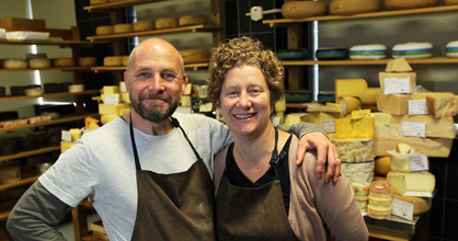 Martin and Sarah Aspinwall of Canterbury Cheesemongers
