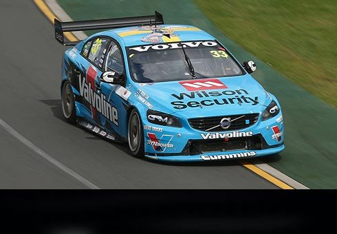 Volvo's Scott McLaughlin has ensured NZ completed a clean sweep of the V8 Supercars exhibition round at the Australian GP.