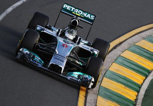 Nico Rosberg celebrated a dominant win for Mercedes in the season-opening Australian Grand Prix.