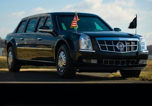 US President Barack Obama's current armoured limousine nicknamed 'the beast'.