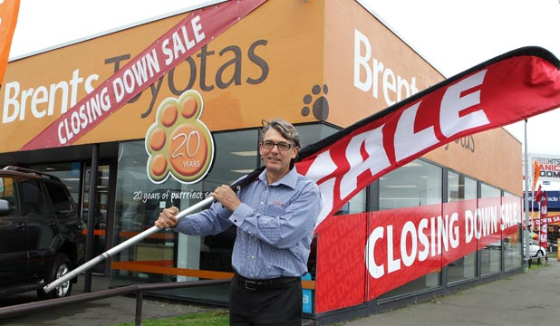 Brent Robertson of Brent's Toyotas is being forced off his site after 28 years of trading.