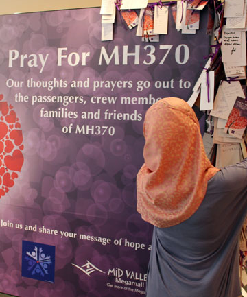 Messages of support for MH370
