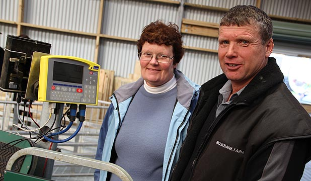 Waikaka Valley farmers Barry and Julie Crawford have noticed improvements in lamb survival using Crystalyx Extra High Energy molasses blocks.