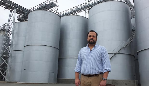 Malteurop New Zealand operations manager Tiago Cabral at the company's Marton plant.