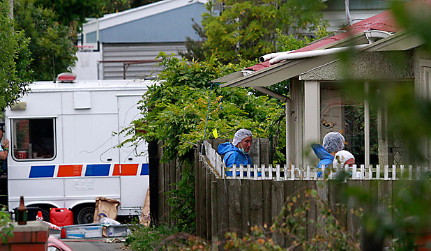 Forensic experts at Wildberry St