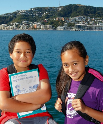 Cannons Creek School year 5 pupils Francois Tamaiva, 8, and Sheila Tui