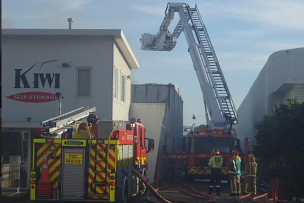 Storage facility fire, Wellington