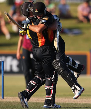Luke Woodcock and Luke Ronchi