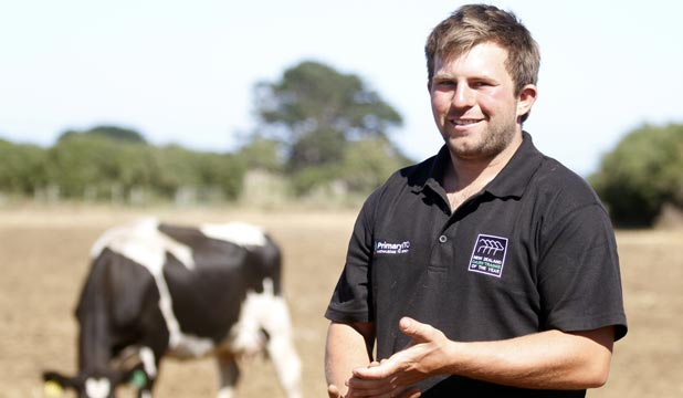 Ben Frost is the 2014 Taranaki Dairy Trainee of the Year.