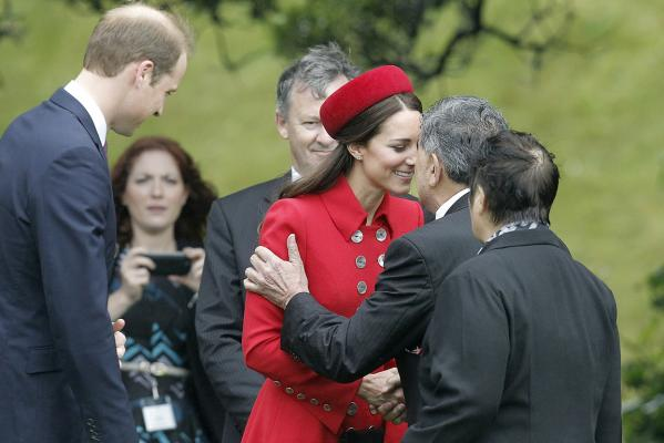Catherine, Duchess of Cambridge, gets up close and personal.