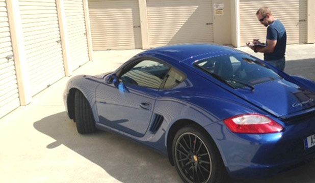 The 2008 Porsche Cayman police recovered from a storage unit in Hamilton.