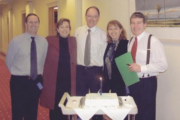 Don Brash with Nat MPs 2003