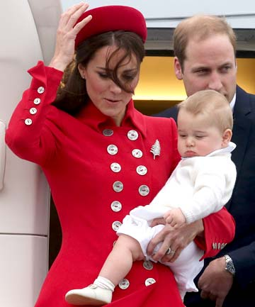 Royal family arrive in New Zealand