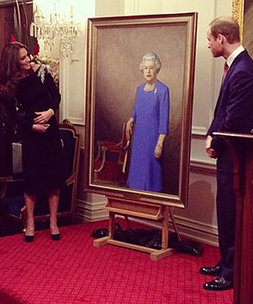 portrait unveiling of Queen