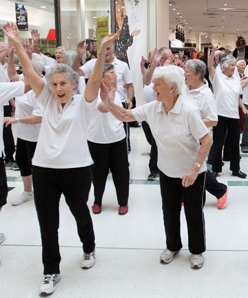 Flash mob of retirement home residents