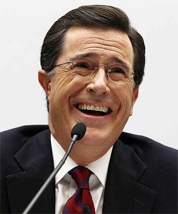 NEW HOST: Stephen Colbert will take over from David Letterman next year.