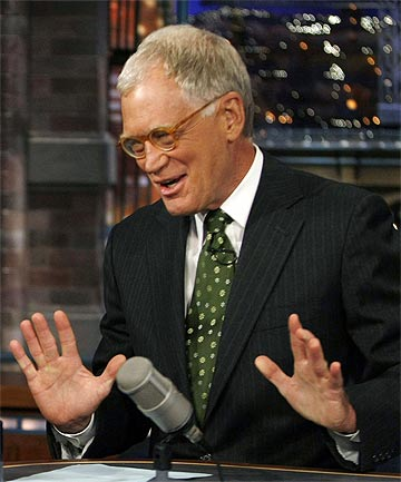 DAVID LETTERMAN: Announced plans to retire next year.