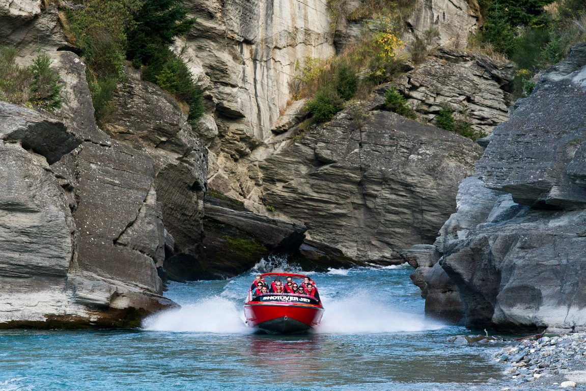 The Duke and Duchess of Cambridge enjoyed a ride on the Shotover Jet this afternoon.
