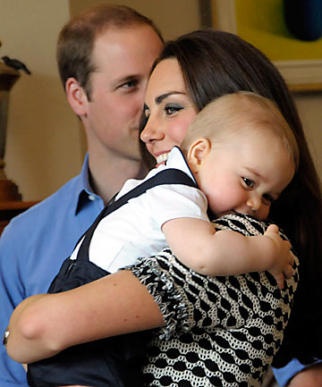 Catherine and Prince George
