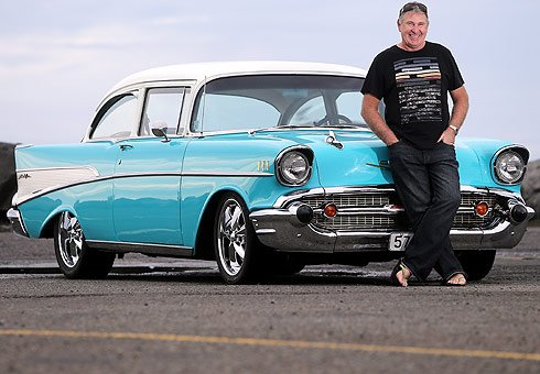 Allan Simons with his 1957 Chevrolet Bel Air.
