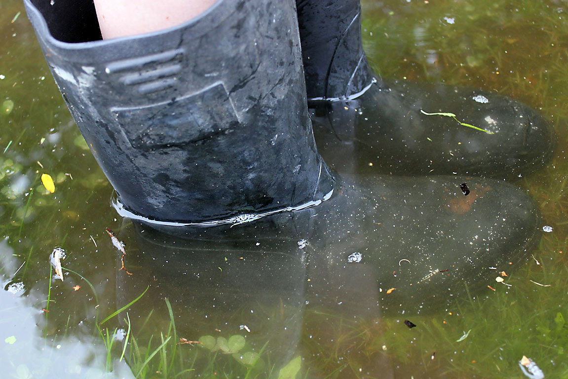 Wellies during flooding