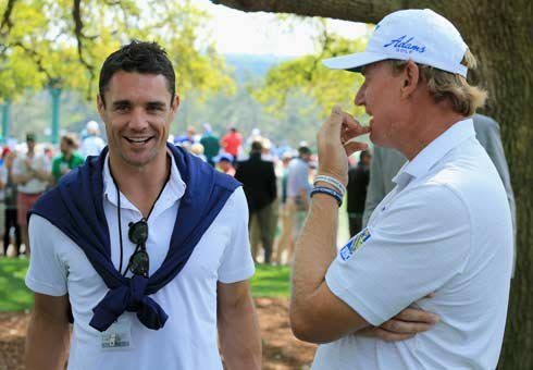 Dan Carter and Ernie Els