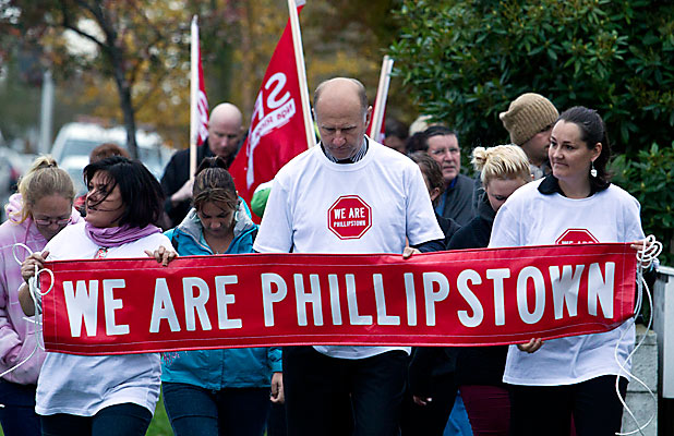 Phillipstown School protest