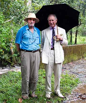 MARK SHAND: The brother of Camilla, Duchess of Cornwall, and Prince Charles during a visit to the elephant corridor at Vazhachal Forest Range, India, in 2013.