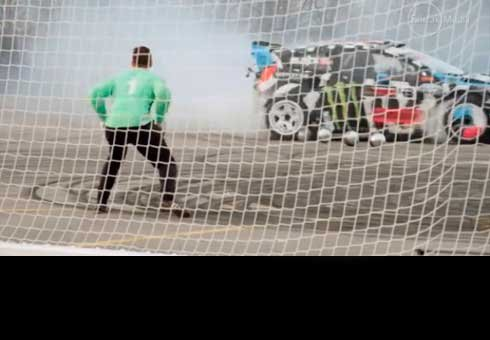 Ken Block kicks goals