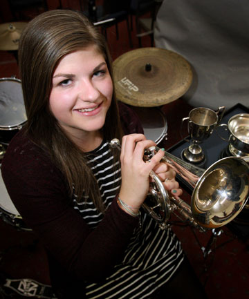 Cornet player Megan Gooding