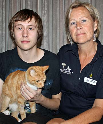 Tom Wyles and mum Annika Holmqvist