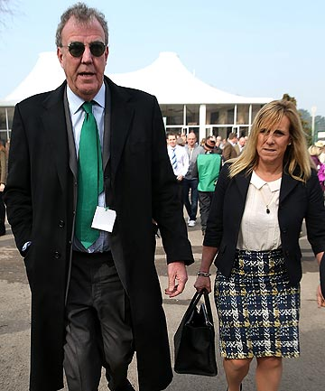 A file photo of Jeremy Clarkson and his wife, Frances.