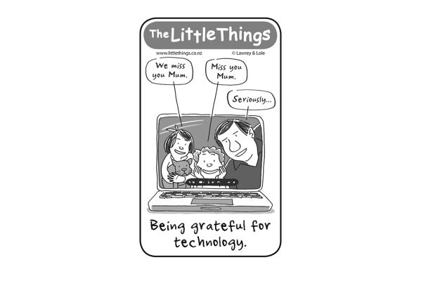 Monday, May 12: Grateful for technology