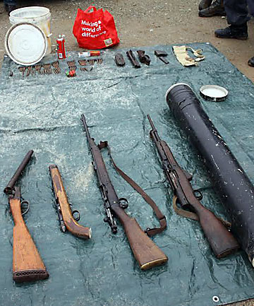 Guns found in West Coast raid