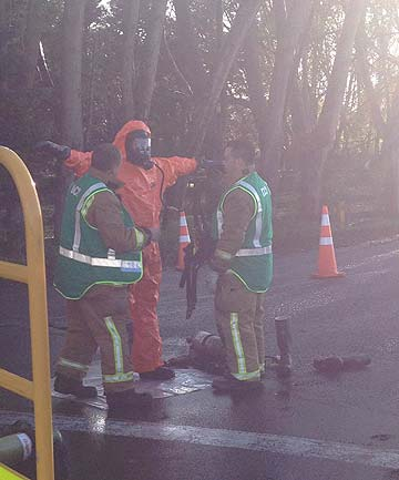Takanini Chemical spill