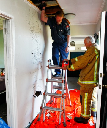 Fire safety investigator Dave Jenkins and Pukete station