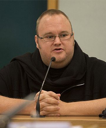 KIM DOTCOM: The internet mogul gave evidence at the trial of John Banks.