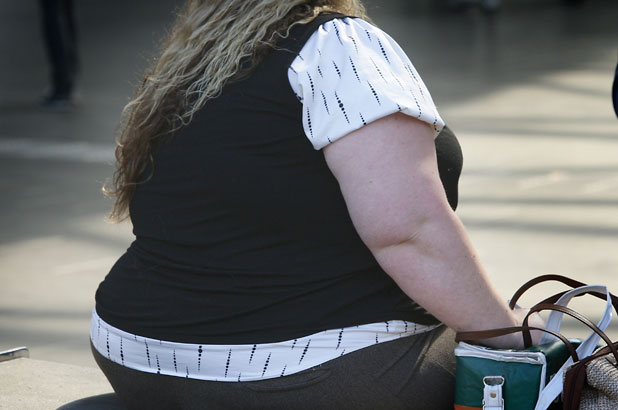 Fat woman, overweight, obese