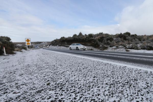 Snow on Desert Road