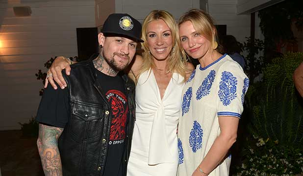 Benji Madden and Cameron Diaz,
