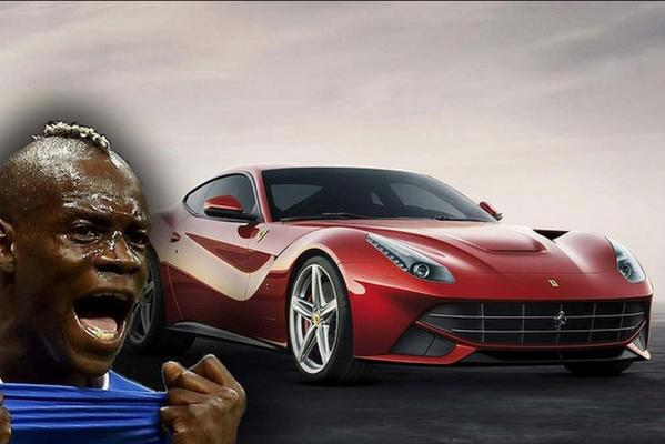 Italian, Mario Balotelli, turns heads on and off the field with his Ferrari F12.
