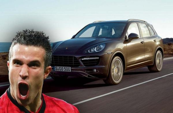 Dutch stalwart, Robin van Persie, drives a Porsche Cayenne Turbo.
